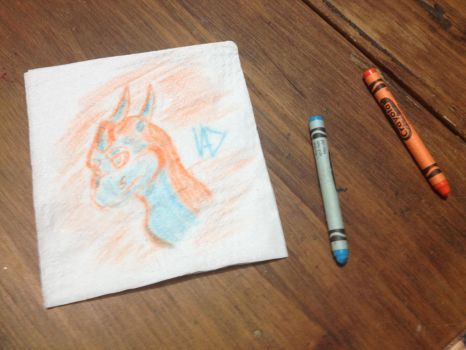 Crayon Dragon on a napkin by Draconet