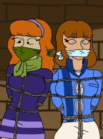 Daphne and girl from speed buggy bound and gagged by darktenor5