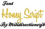 Font Honey Script by MiliDirectionerJB