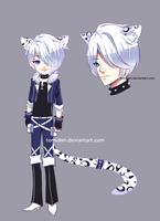 [ADOPT 134][AUCTION][CLOSED TY] SNOW LEOPARD by tomiden