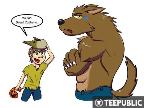 Teepublic: Werewolf and Trick-or-Treatre by CaseyLJones