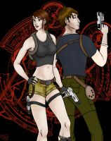 Lara and Kurtis - Coloured by when-i-caught-myself