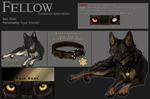 Ref-Sheet::Fellow:: by WhiteSpiritWolf