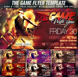 PSD The Game Flyer by retinathemes