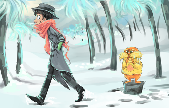 Winter in the Truffula Forest by sharkie19