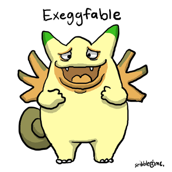 Exeggfable by sribbleinc