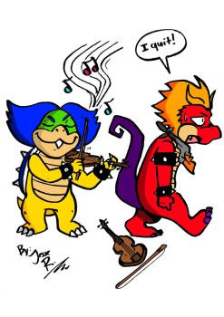 Ludwig von Koopa and Hooktail Jr by DragonTeens