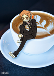Yosuke hanamura coffee commission by DarkDragonTanis