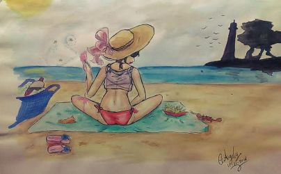 Summer and Beach by G-Angely09