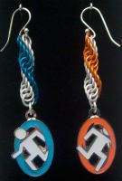 Portal Double Helix Earrings by Silkyprime