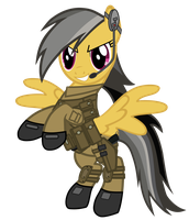 Daring Do military uniform by DolphinFox