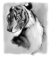 Tiger Painting by Owlsparky