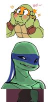 ninjaturtle scribble by Baekim