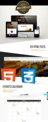 Mozzarella HTML and CSS Cafe Bar Template by odindesign