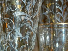 Gold Rimmed Glassware by TheGnas