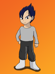What if Goku married Bulma. Vegeta and Launch kid by Krispina-The-Derp