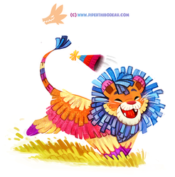 Daily Paint 1292. Party Animal by Cryptid-Creations