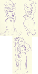 Class Sketches_Adventure Time Chocolate Princesses by InkBottleInc