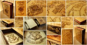 Harry Potter Wooden Box - Pyrography by Bordjukova