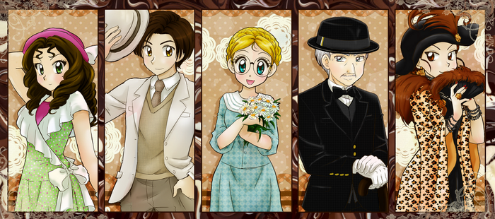 Chocolate with pepper main characters by chikorita85