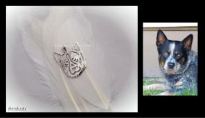 'Cute doggy', handmade sterling silver pendant by seralune