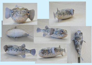 Longspine Porcupinefish Paper Model by DrWheelieMobile