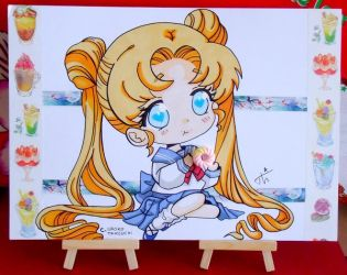 Chibi sailor moon by Theresem97