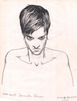 Samantha Ronson on pencil by Kino-Arcano