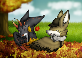 (Story in Desc.) Stop for Some Autumn Fun! by PoppyWolfMoon