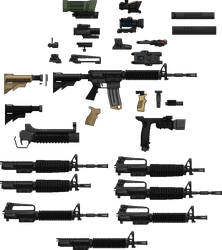 m4 carbine accessories by KRONOMATIK