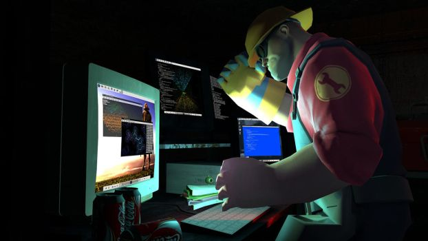 Engineer Working Overtime by dagdg