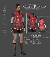 Claire Redfied Classic Resident evil 2 by WeskerFan1236
