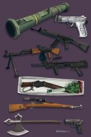 Mobsters: Weapons by Pinkuh