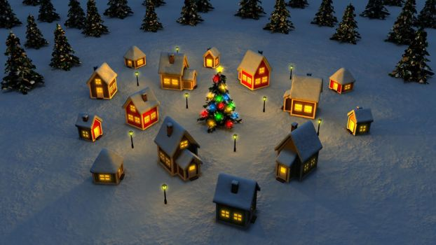 Christmas Town HD by HolgerL