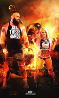 Alexa Bliss and Braun Strowman - Poster. 2018 by Erick11Editions
