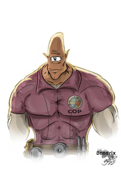 Allen the Alien from Invincible (Color by Bouncie) by BouncieD