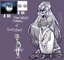 White Diamond and Dusty Pearl [adopt] by SmasherlovesBunny500