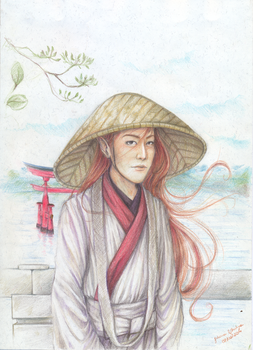 Shinto Japanese redhead Elf (February/2014) by juhcashew