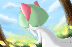 Ralts - Shining Forest art