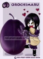 Chibi Fruit Ninja-Orochimaru by Red-Priest-Usada