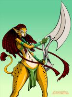 CAT GIRL WARRIOR by chriscrazyhouse