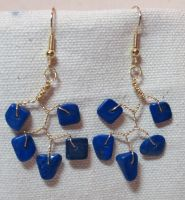Lapis Lazuli VineDrop Earrings by the-twisted-vine
