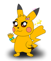 [OC] Sparky the Shiny Pikachu by yoshiLover1000