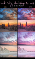 Pink Sky Photoshop Actions by magic-spelldust
