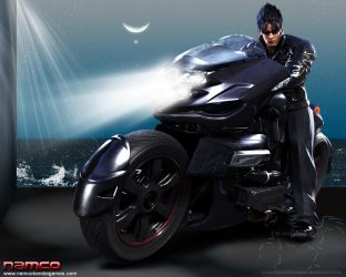 Jin On His Motorcycle V2 by Blood-Huntress
