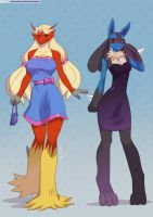 Blaziken and Lucario (Pack06) by playfurry