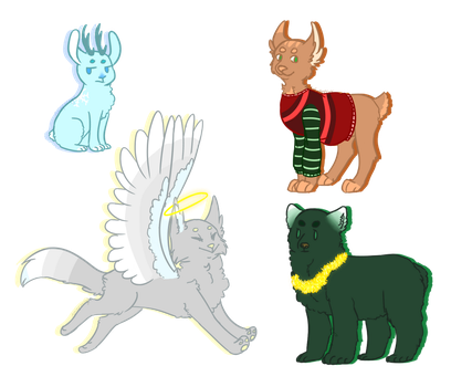 Christmas Point Adopts (cheap) (1/4 OPEN) by animelover7032