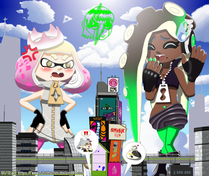 Attack on Off the Hook / Inkopolis New Mega Mishap by ZatchHunter