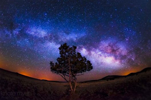 The Milky Way with a Hint of Moonlight by k-n-8