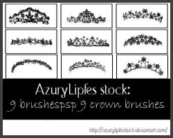 Crown brushes by AzurylipfesStock